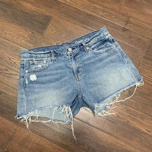 GAP Sexy Boyfriend Cutoff Denim Shorts